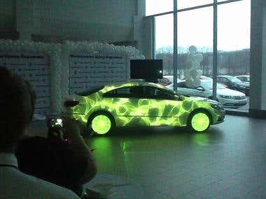 3D Mapping projection - VW Passat CC