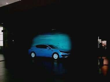 3D Mapping projection - Kia Optima