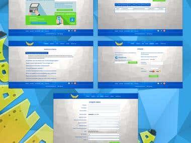 WEB-design for exchange site