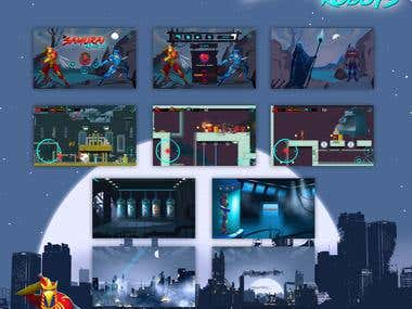 Game design and development Samurai Robots