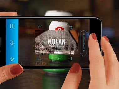 AR application for the beer producer