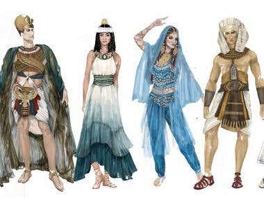Digital Costume illustrations