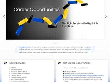 Stragtic Careers PSD TO HTML Work