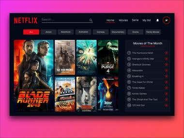 Netflix Redesign Concept Website