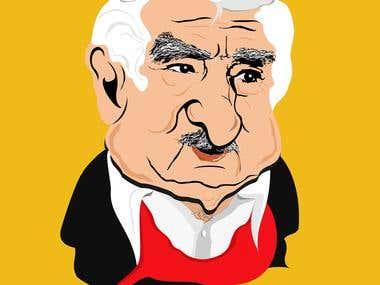 """Caricatura de """"PEPE"""" Mujica"""