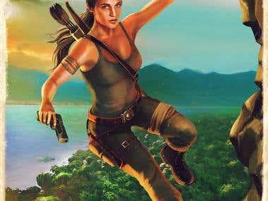 Tomb Raider movie illustration