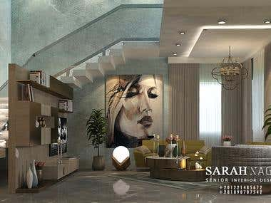 3d interior design Freelancer client name : Randeep