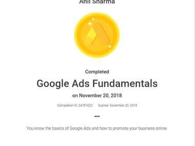 Google Ads Fundamentals Certification