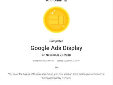 Display Google Ads Certified Professional