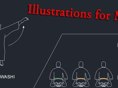 Illustrations for Martial Arts Book (2009-2010)