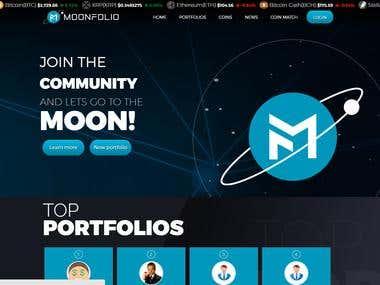 Cryptocurrency investement website development