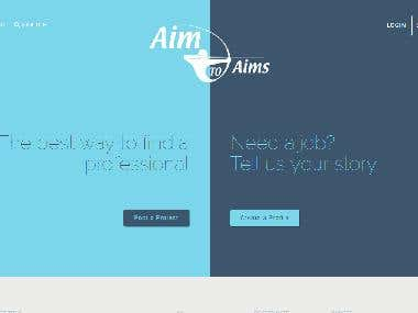 Aim to Aims website