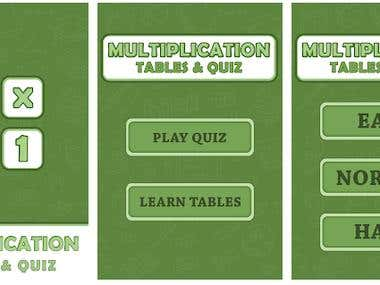 Mathematics Quiz and Tables