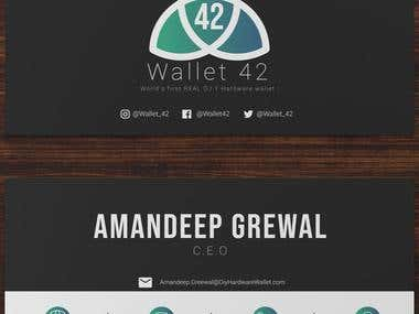Bussiness Card For Wallet 42