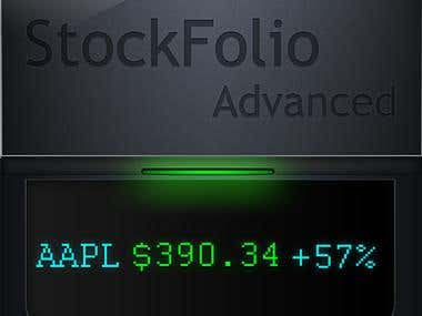 StockFolio advanced (in house project) upcoming app.
