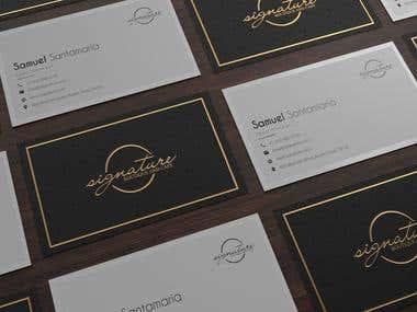 Signature Cafe bussines card