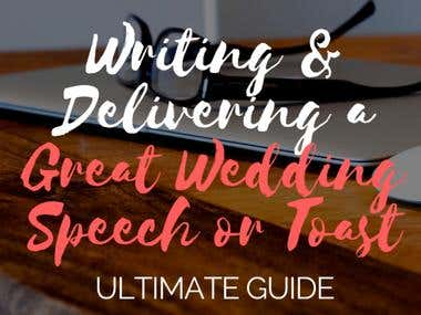 Weeding Speeches and Articles