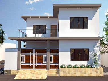 Complete 3D House Project.