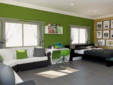 Studio Interior design and Render