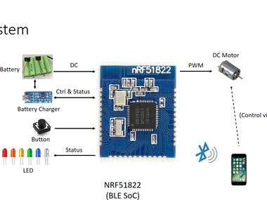 nRF51822 DC Motor Project