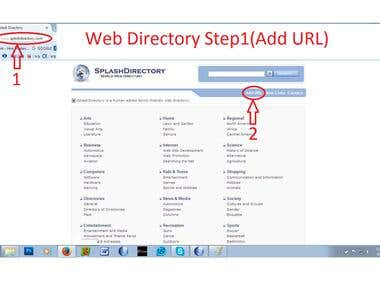 link building/ web directory submission