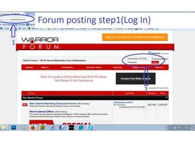 link building/Forum posting