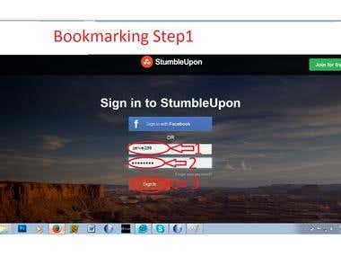 link building/ book marking