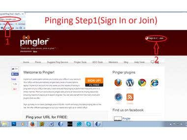 link building/ Pinging