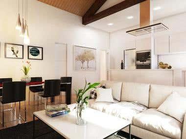 Render Spain interior Desing
