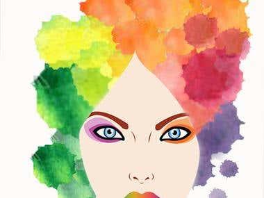 diseño de logotipo para empresa de tintes para el cabello