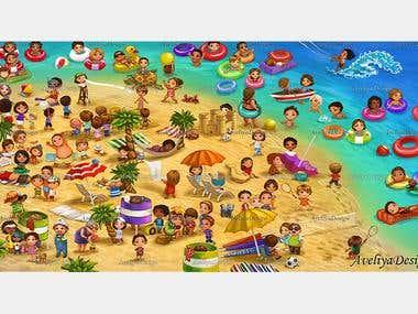 Where is Harry? (beach)