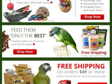 Bird Store Advertising Banners