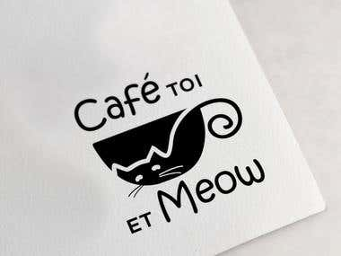 logo for a Cat cafe