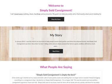 Website Design - Simply Sold Consignment