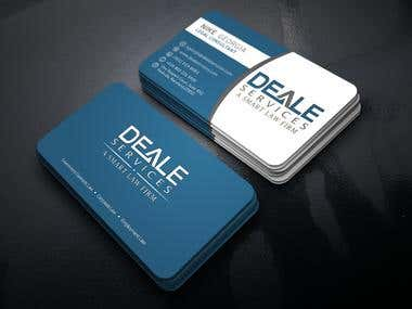 Business card design for-vision worx software company