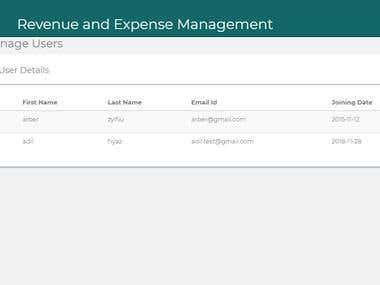 Revenue and expenses management