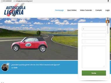 Driving School Website (Escuela de Conducir) (Autoscuola)