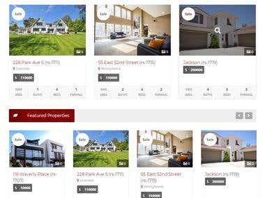 Real Estate Property Website