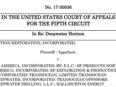 US Court of Appeals 5th Circuit Deep Water Horizon