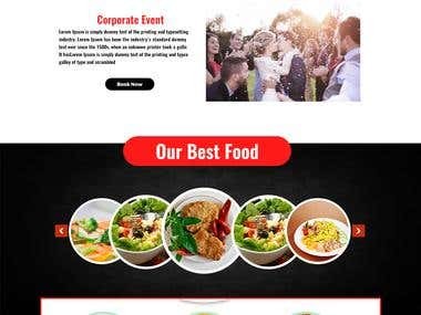 Catering Company Web site design