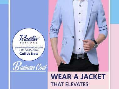 Graphic Image Designing For Bluestar Tailors