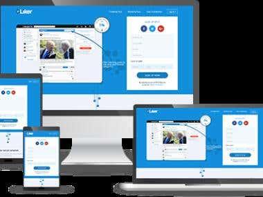 UI/UX - Liker Social Media