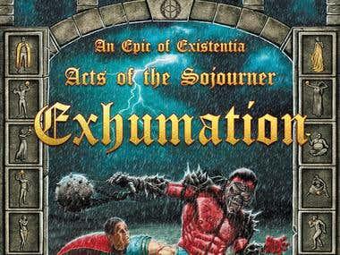 Front cover Exhumation Fantasy novel