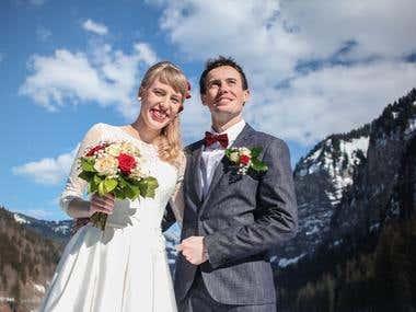 portrait newlywed