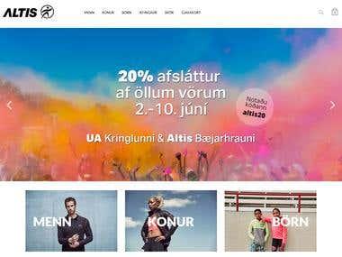 Online Sportswear Products for Men's and Women's -WordPress