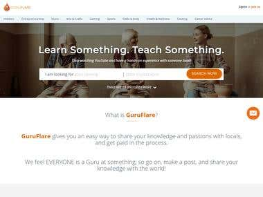 GuruFlare - Learn Something, Teach Something, A place to lea