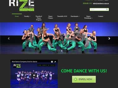 Rize Dance Company-Wordpress
