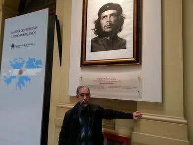 Galeria de patriotas latinoamericanos +Casa Rosada-Argentina