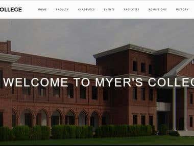 Myers College Website