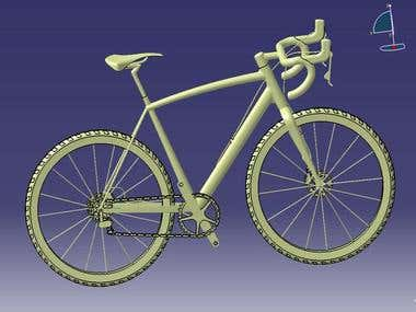3d design of a bicycle